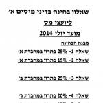 בחינה בדיני מיסים א ליועצי מס יולי 2014